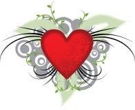 Fondo de la tarjeta del día de San Valentín, vector Fotos de archivo libres de regalías
