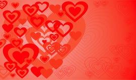 Fondo de la tarjeta del día de San Valentín, vector Foto de archivo libre de regalías