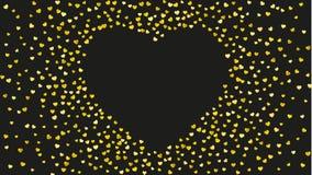 Fondo de la tarjeta del día de San Valentín con los corazones rosados del brillo 14 de febrero día Confeti del vector para la pla Foto de archivo libre de regalías