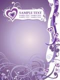 Fondo de la tarjeta del día de San Valentín Imágenes de archivo libres de regalías