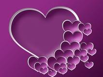 Fondo de la tarjeta del día de San Valentín con el marco de la foto Imagen de archivo libre de regalías
