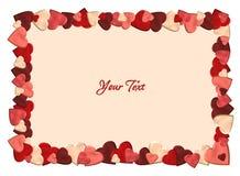 Fondo de la tarjeta del día de San Valentín con los corazones Fotografía de archivo libre de regalías