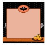 Fondo de la tarjeta del lunar del negro de Halloween Imagenes de archivo