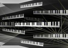 Fondo de la tarjeta del piano Fotos de archivo libres de regalías