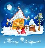 Fondo de la tarjeta del regalo de la invitación de la Navidad Imágenes de archivo libres de regalías