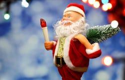 Fondo de la tarjeta del ` s del Año Nuevo con Santa Claus Foto de archivo libre de regalías
