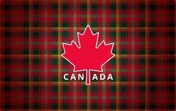 Fondo de la tarjeta de felicitación del día de Canadá - moderno abstracto de la hoja de arce stock de ilustración