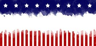 Fondo de la tarjeta de felicitación del grunge de la bandera americana imagen de archivo libre de regalías