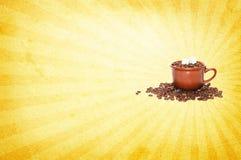 Fondo de la taza de café Fotografía de archivo libre de regalías