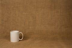 Fondo de la taza de café - taza blanca Imagen de archivo libre de regalías