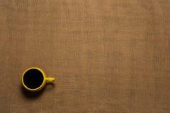 Fondo de la taza de café - visión superior Imagenes de archivo