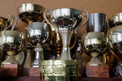Fondo de la taza y del trofeo Imagen de archivo