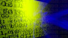 Fondo de la tecnología Código binario Extracto Big Data almacen de metraje de vídeo