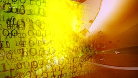 Fondo de la tecnología Código binario Extracto Big Data Secuencia de datos almacen de metraje de vídeo