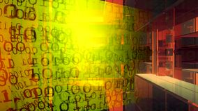 Fondo de la tecnología Código binario Extracto Big Data Secuencia de datos almacen de video
