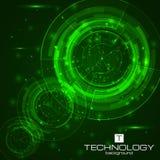 Fondo de la tecnología con los elementos de HUD Foto de archivo