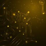 Fondo de la tecnología con los elementos de la placa de circuito. Foto de archivo libre de regalías