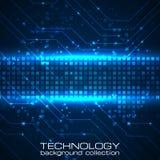 Fondo de la tecnología con los elementos de las placas de circuito Foto de archivo