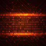 Fondo de la tecnología con los elementos de las placas de circuito Imagenes de archivo