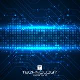 Fondo de la tecnología con los elementos de las placas de circuito Imágenes de archivo libres de regalías