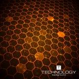 Fondo de la tecnología con textura del panal Imagen de archivo libre de regalías
