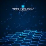 Fondo de la tecnología con textura del panal Foto de archivo