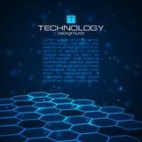 Fondo de la tecnología con textura del panal Fotos de archivo libres de regalías