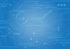 Fondo de la tecnología de la placa de circuito ilustración del vector