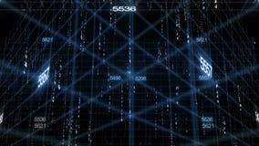 Fondo de la tecnología de los datos del número almacen de metraje de vídeo