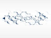 Fondo de la tecnología de red del diseño del vector Fotografía de archivo