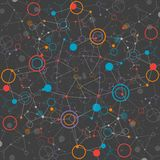 Fondo de la tecnología del color de la red Imágenes de archivo libres de regalías