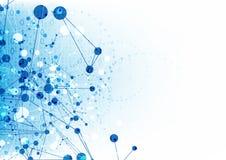 Fondo de la tecnología del cortafuego de Internet, vector de la tecnología de la ciencia abstracta Imágenes de archivo libres de regalías
