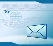 Fondo de la tecnología del email Fotografía de archivo