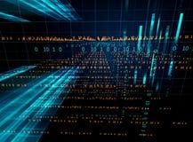 Fondo de la tecnología del extracto del número de código de Digitaces Foto de archivo libre de regalías