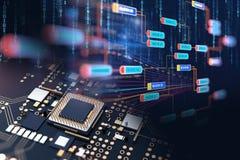 Fondo de la tecnología del extracto del número de código de Digitaces Foto de archivo