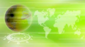 Fondo de la tecnología del mundo stock de ilustración