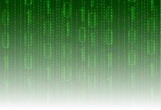 Fondo de la tecnología del VECTOR de las matrices-dato, contexto verde del código de programa Imagen de archivo