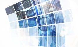 Fondo de la tecnología, idea de la solución del negocio global Imagenes de archivo