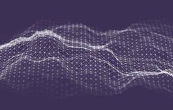 Fondo de la tecnología de la inteligencia empresarial Aprendizaje profundo de los algoritmos del código binario Análisis de la re stock de ilustración