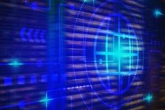 Fondo de la tecnología para Internet de la tecnología de las cosas y del concepto grande de los datos Fotos de archivo