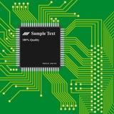 Fondo de la tecnología, tarjeta de circuitos de ordenador Fotografía de archivo