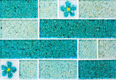 Fondo de la teja de mosaico de la teja Fotografía de archivo