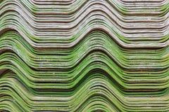 Fondo de la teja de tejado del color verde Foto de archivo libre de regalías