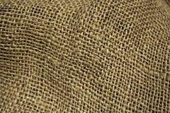 Fondo de la tela de la arpillera Foto de archivo libre de regalías