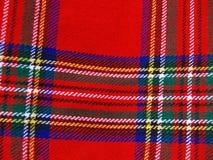 Fondo de la tela escocesa Fotos de archivo