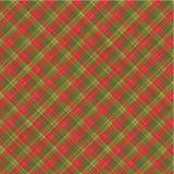 Fondo de la tela escocesa de la Navidad, con el modelo inconsútil Fotos de archivo
