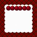Fondo de la tela escocesa de la Navidad con los ornamentos Imagenes de archivo