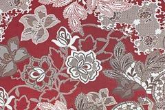 Fondo de la tela, fragmento de la materia textil retra colorida p de la tapicería Foto de archivo libre de regalías