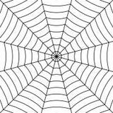 Fondo de la telaraña con la araña entretejida negra de los hilos, web de araña simétrica del modelo del vector para Halloween ilustración del vector