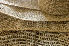 Fondo de la textura de la arpillera Fotos de archivo libres de regalías